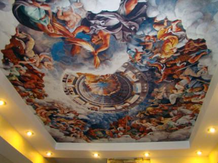 натяжной потолок как во дворце